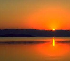 sunset at trasimeno
