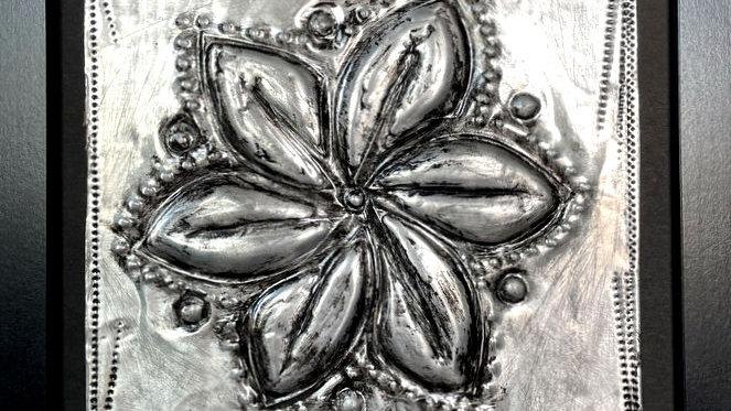 Flower Embossed in Metal