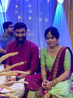 Keerthi got engaged to Sudheesh KV