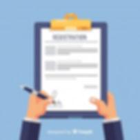 registration-form-template-with-flat-des
