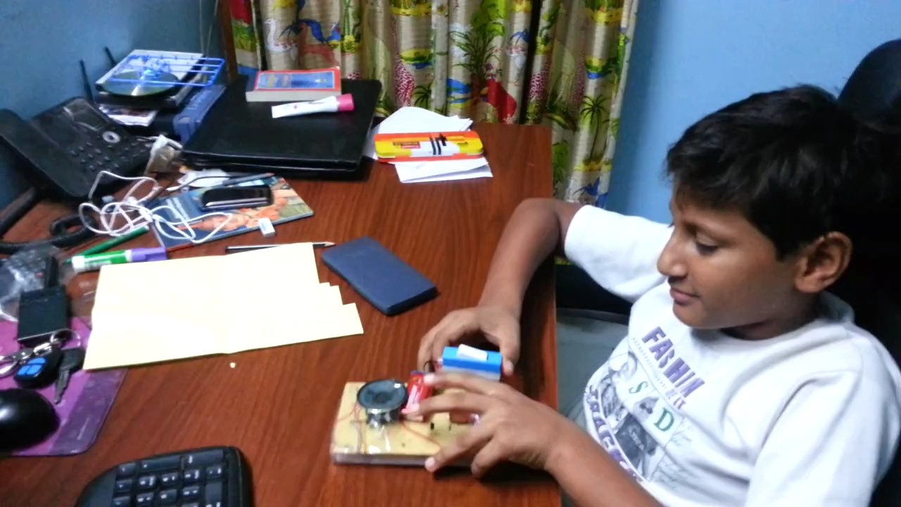Lie detection device: School Science Project made by Mehul Maggo