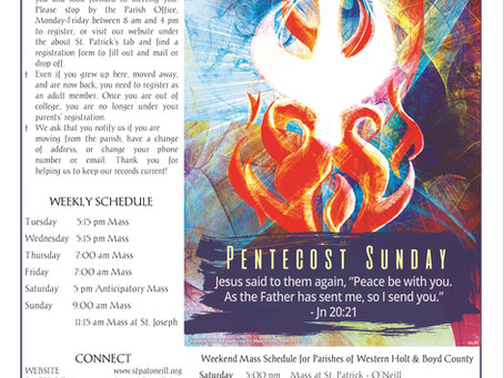 Bulletin for Sunday May 31st