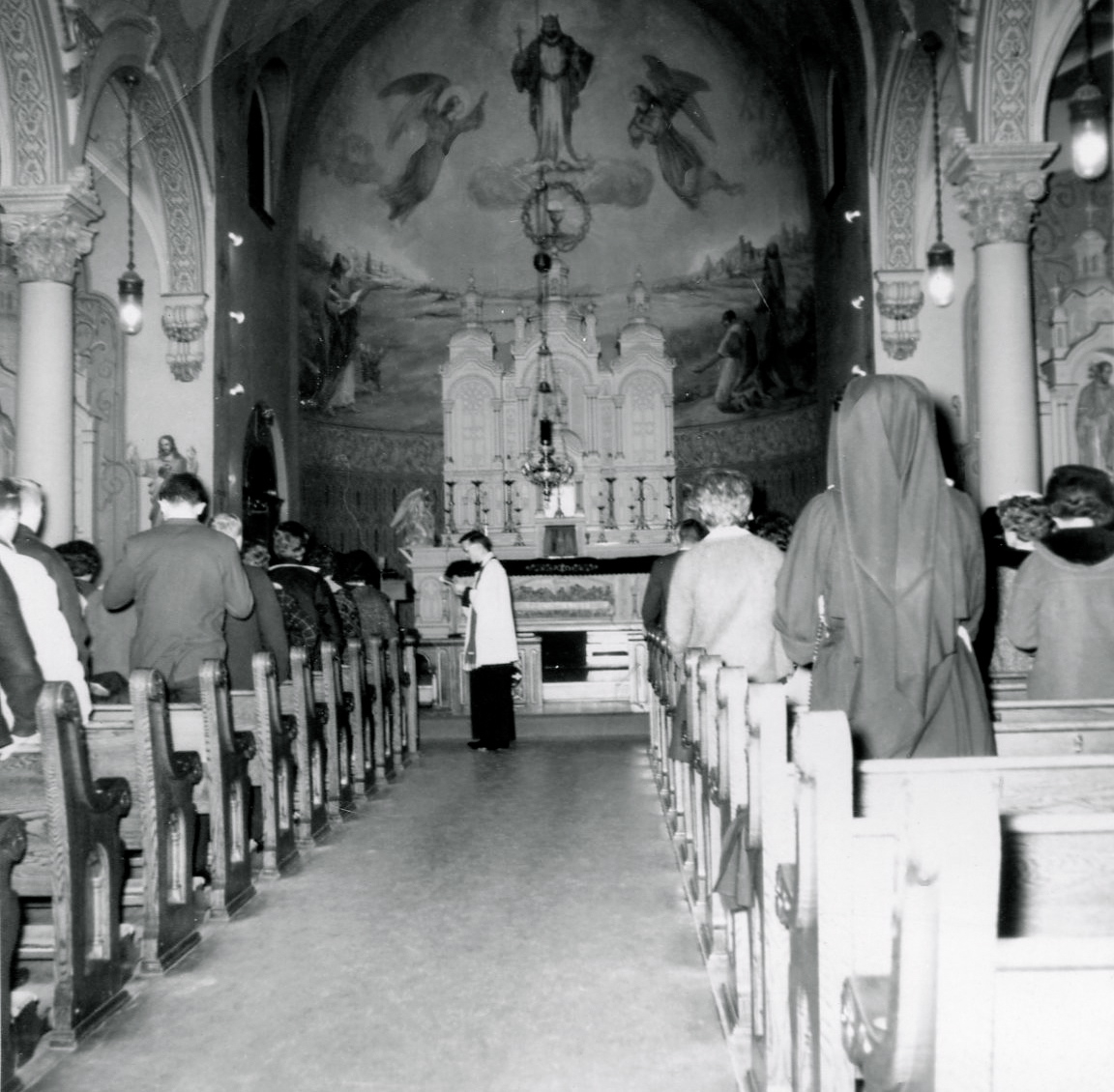Interior of St. Patrick's 1950