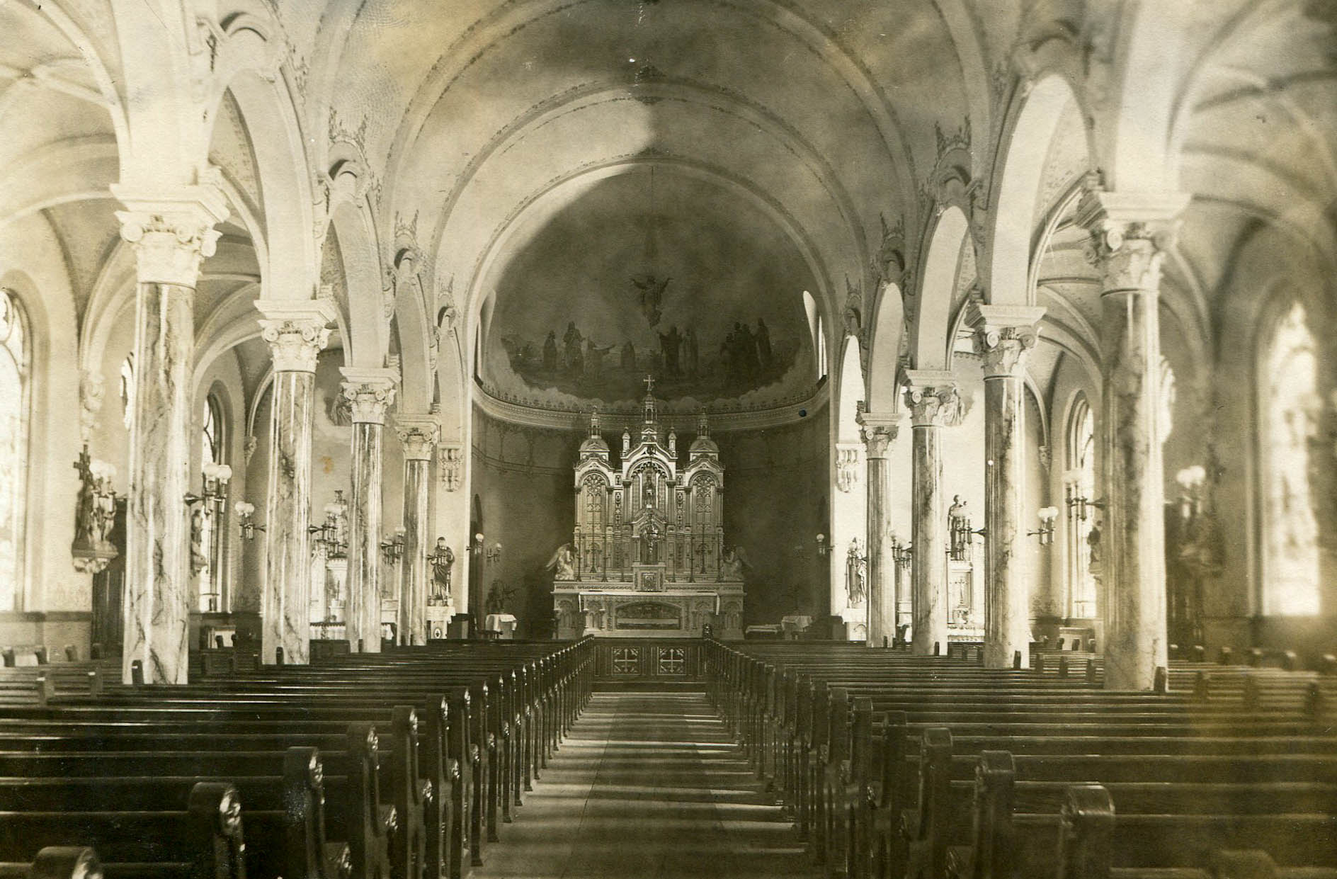 Interior of St. Patrick's 1920
