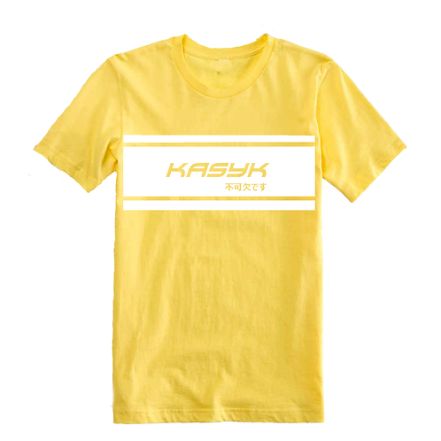 Gold Double Stripe Label Tee