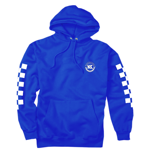 Kasyk Forest Blue Checkered Racer Hoodie