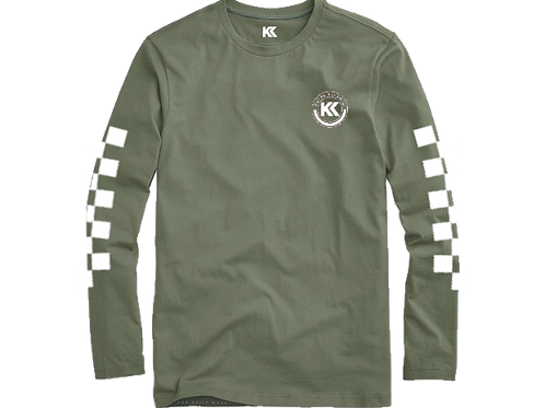 Kasyk Olive Green Racer Long Sleeve