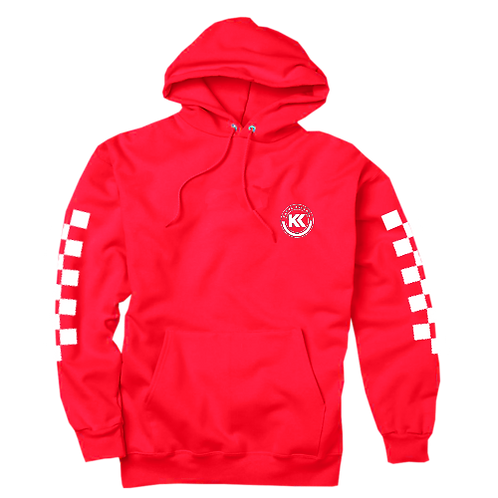 Kasyk Red Checkered Racer Hoodie