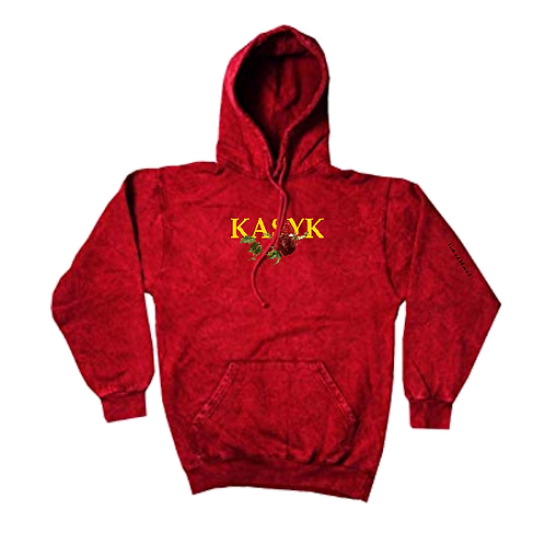 Kasyk mineral washed rose hoodie