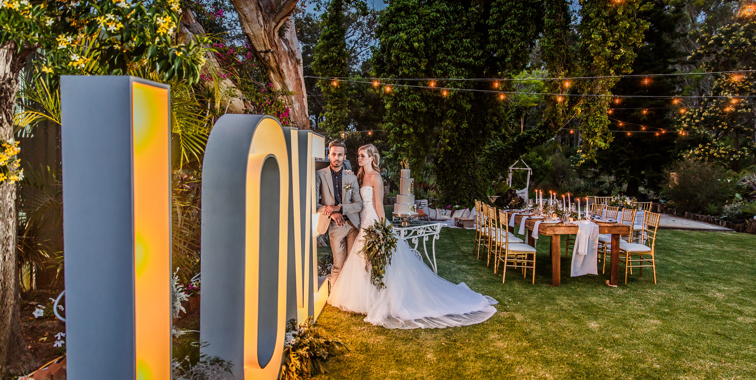Light Up Letters at Rothwood \\ Fine Line Photography