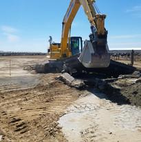 Excavator on hand