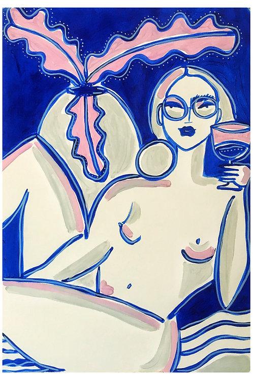 Series of women drinking I