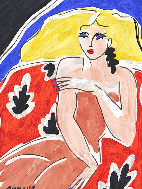 Blond woman - my version of Matisse