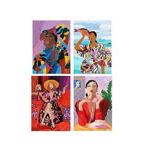 PACK 4 'A4' prints