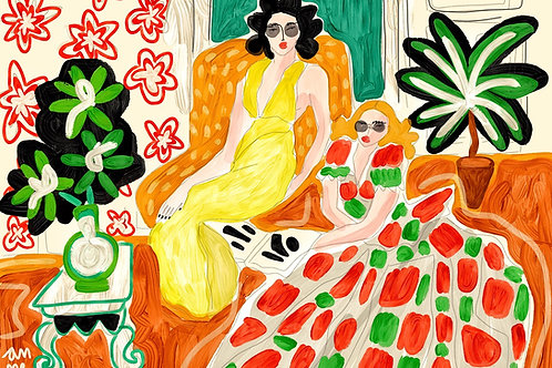Two women - my version of Matisse
