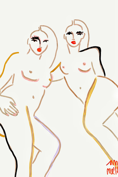 2 GIRLS - ORIENTAL NUDE