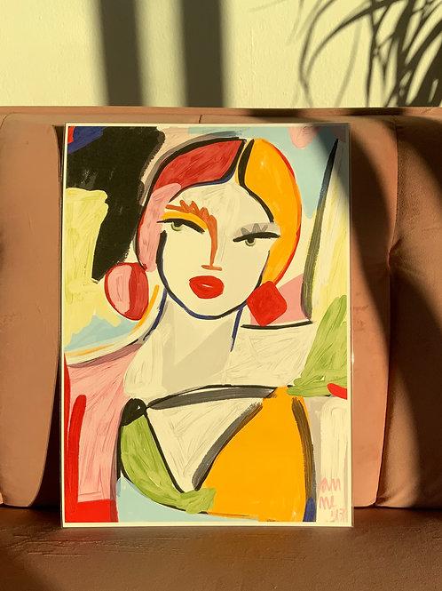 PALETTE GIRL 30x42cm