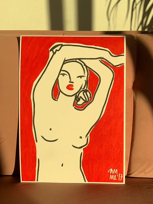 RED NUDE 30X42 cm