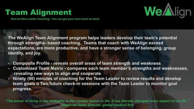WeAlign Team Alignment
