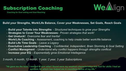 Subscription Coaching