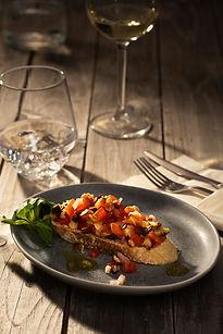 Bruschetta Foodfotografie im Studio