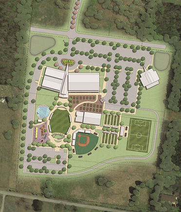 Aerial shot of Empower Me Center's future facility