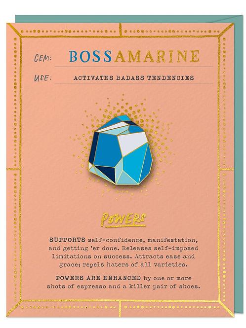 Bossamarine Brooch and Card