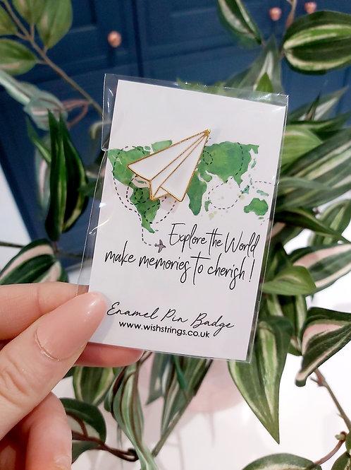 Explore the World Pin Brooch