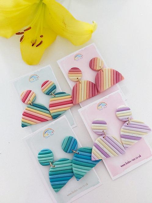 Polymer Clay Rainbow Earrings