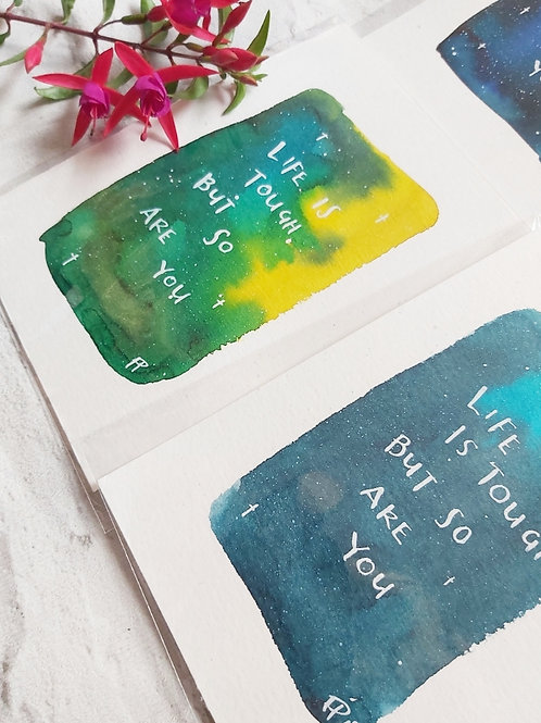 Self Care Hand Painted Print
