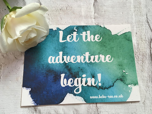 Motivational Postcard-Adventure