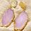 Thumbnail: Geode Slice Drop Earrings