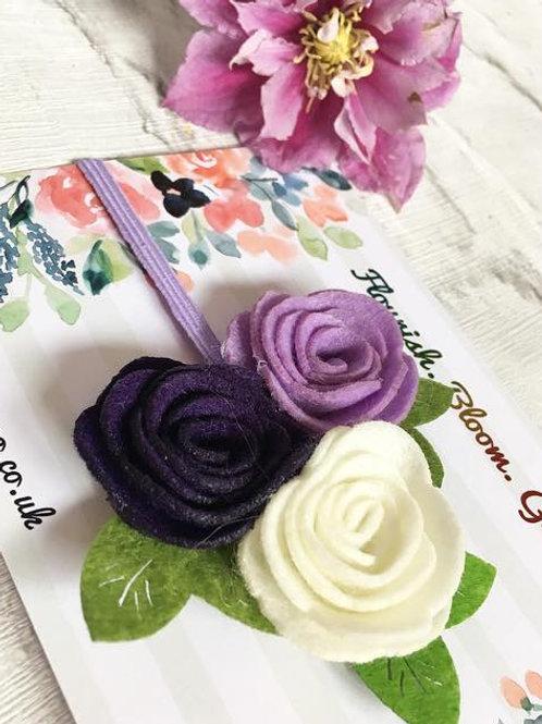 Handmade Felt Flower Headband