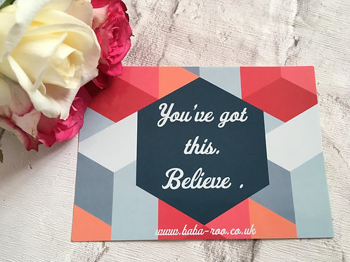 Motivational Postcard- You've Got This