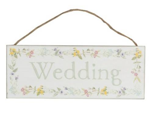 Wildflower Wedding Sign