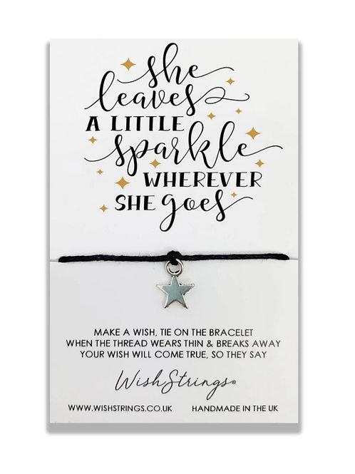 She Leaves a little Sparkle Wish Bracelet