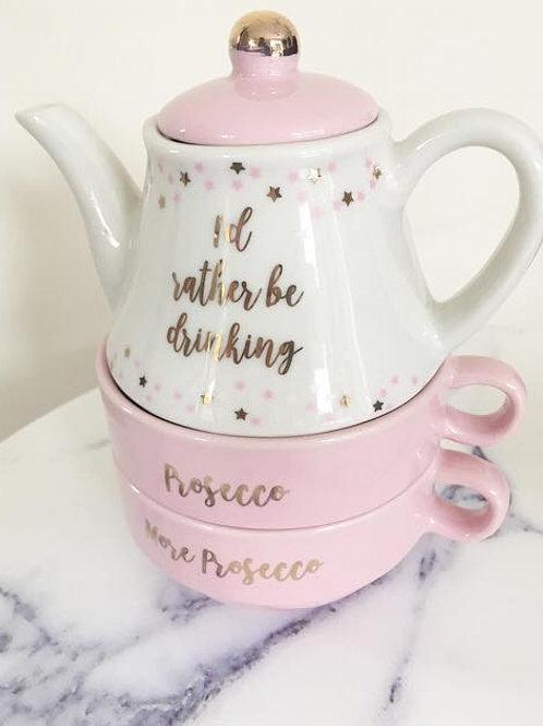 Prosecco Teapot & Cups