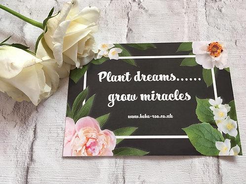 Motivational Postcard- Plant Dreams