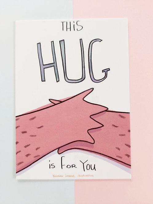 This hug is for you postcard