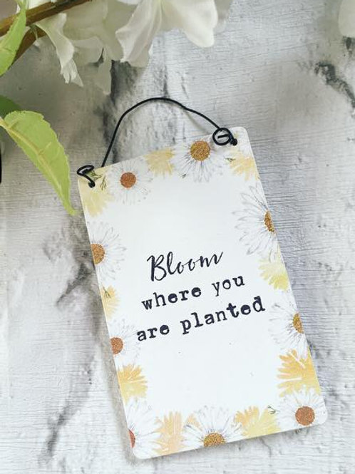 'Bloom Where You Are Planted' Sign