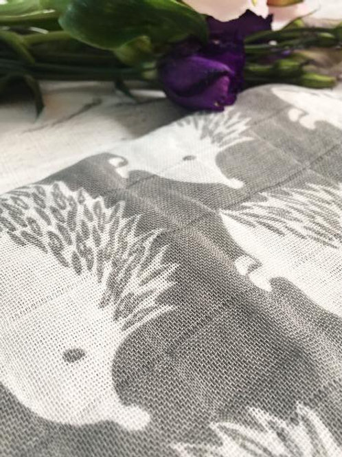 Hedgehog Muslin- Grey