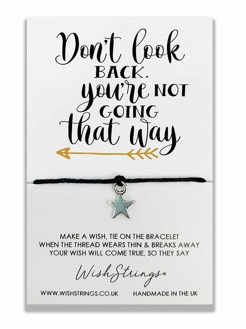 Don't Look Back Wish Bracelet