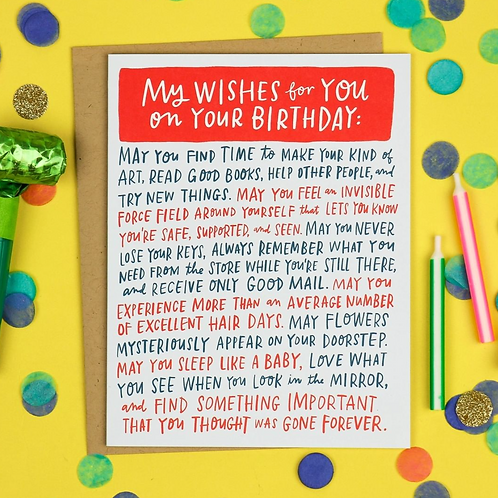 My Wishes for You Card