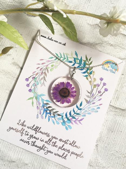 'Wildflower' Necklace- Choice of 3 Colours