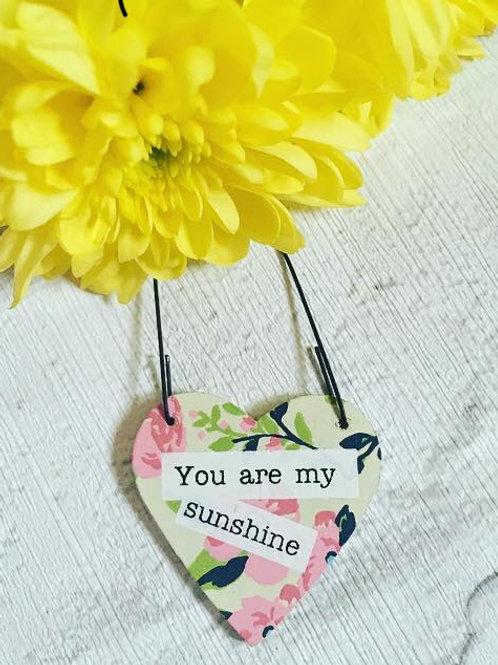 Mini 'You are my Sunshine' Sign