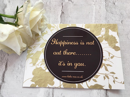 Motivational Postcard- Happiness