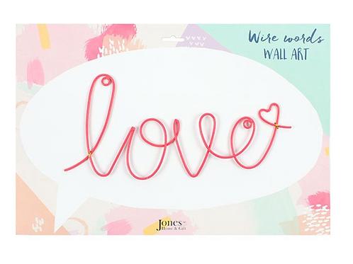 'Love' Wire Wall Art