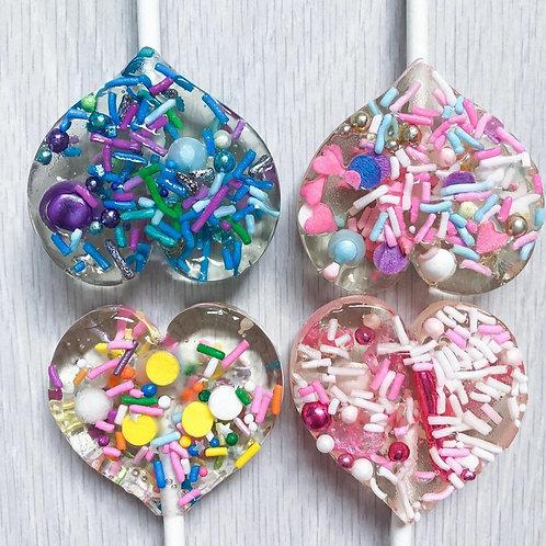 Handmade Sprinkle Lollipops