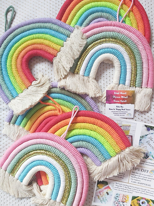 Macrame Hanging Rainbow
