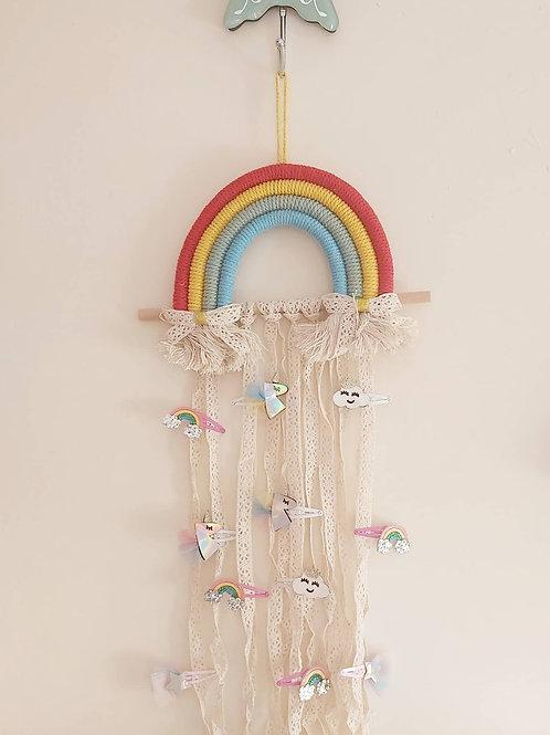 Macrame Rainbow Bow Hanger